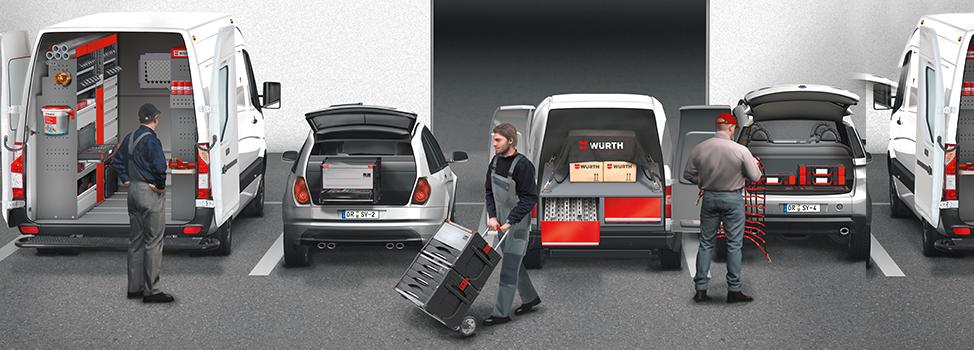 Voertuiginrichting van Würth | ORSYmobil